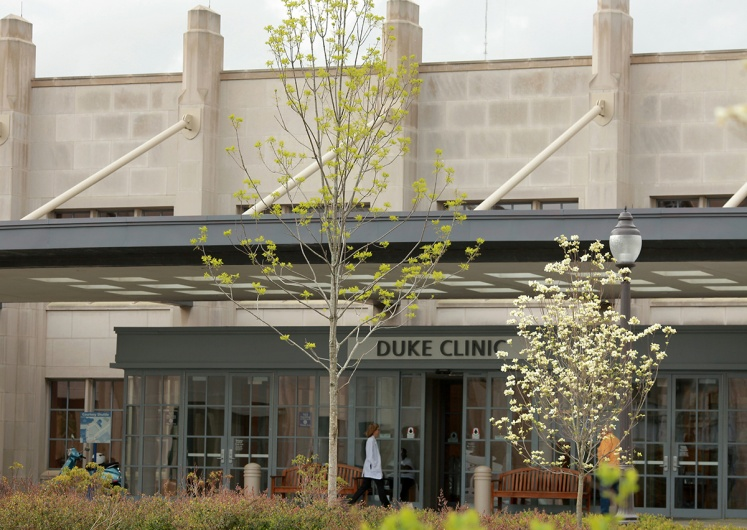 An outside view of the Duke Hematology clinic